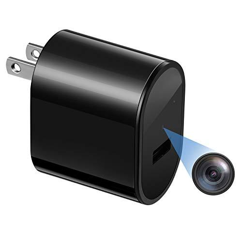 Hidden Spy Camera Mini Surveillance – Rovtop Security Cameras for Homes with Video HD 1080P, Motion Detection Portable USB Camera, Small Nanny Cam, No Audio
