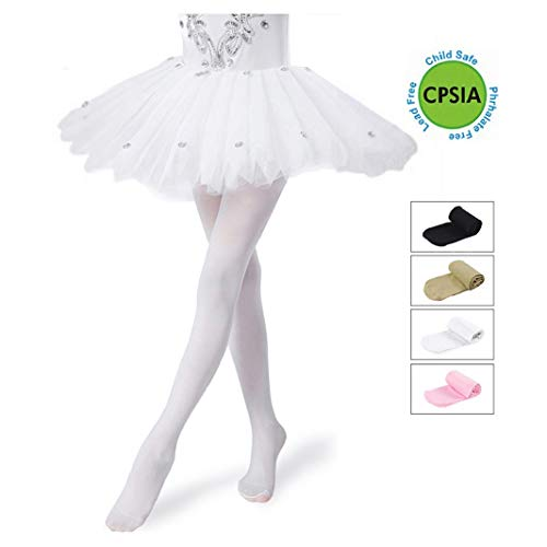 81681aa73f518 pretty_jessie Girls Tights,Dance Tights,Ballet/Transition Super Elasticity  Pantyhose for Kids/Children/Toddler/Little Girl/Big Girl (Small, ...