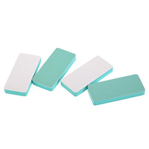 Walmeck 4pcs Nail Files 2 Way Block Buffer Nail Art Shiner Kit Pedicure Manicure Buffing Nail Polishing Tools Salon File Set