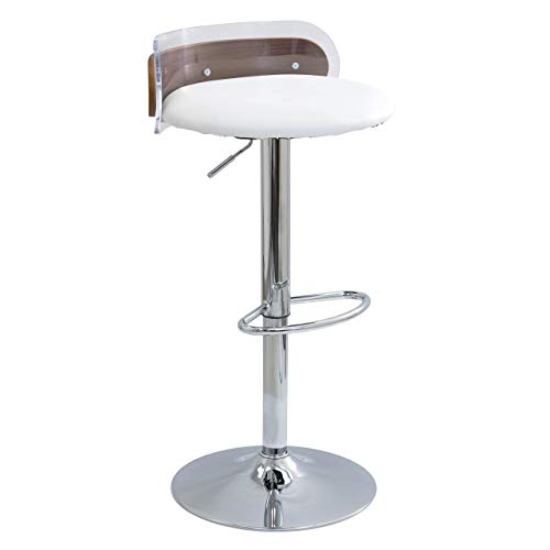 WOYBR BS WL+W Acrylic, Pu, Foam, Wood, Chrome Arc Barstool