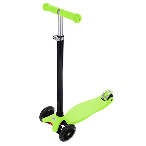 Yuebo New Kick Scooter For Kids Christmas Gift Adjustable Height Scooter with 4 LED PU Wheels for 3-12-year-old.