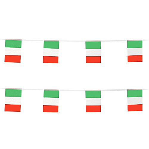 KalaBear Italy Flags,Italian National Country World Pennant String Flags Banners For Party Events Decorations Classroom Garden Olympics Festival Grand Opening Bar Sports -