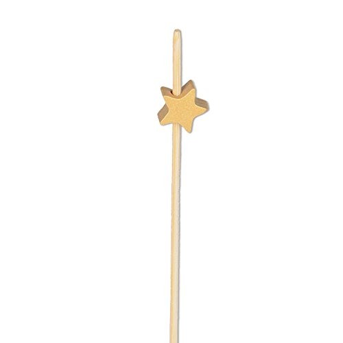 Gold Star Appetizer or Sandwich Picks/Swizzle Stick - 4 3/4