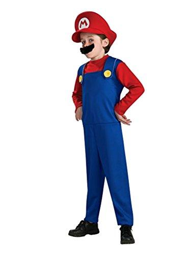 Infant Mario Costumes (Super Mario Brothers Toddler Costume, Mario, Toddler (US Size 2-4))