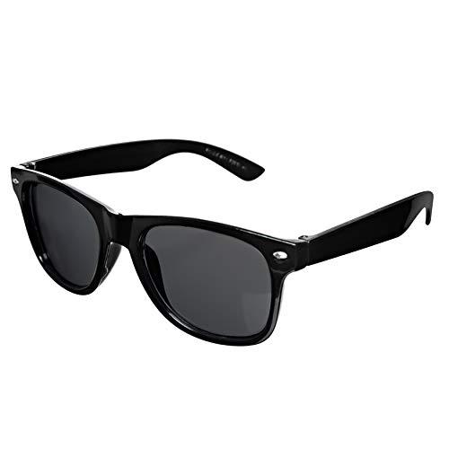 TheGag Black Sunglasses Wholesale Party Pack-12 Retro Wayfarer Risky Business-Blues Brothers Black Sunglasses for Graduation Mardi Gras Holidays-Birthday Wedding Parties Adult Kids-New