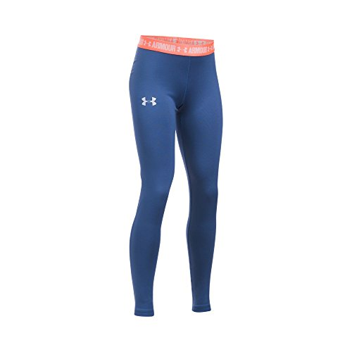 (Under Armour Girls' HeatGear Armour Legging,Deep Periwinkle /Lavender Ice, Youth X-Large)
