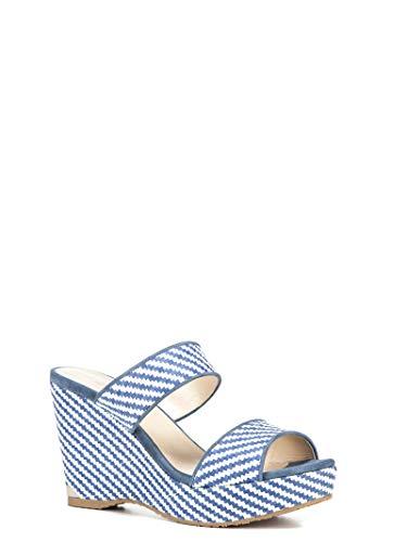 in tessuto Choo sandali bianco Parker100 blu blu Woman Jimmy YXUpqqw