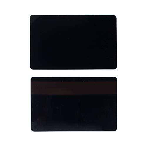 Pack of 100 Premium Graphic Quality Black PVC w/HiCo 3 Track Mag Stripe Cards CR80 30 Mil Standard Credit Card Size CR8030HI by MY ID City