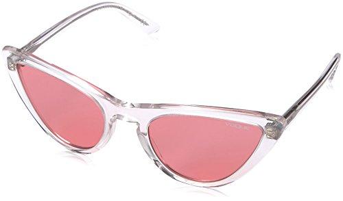 VOGUE Women's Plastic Woman Cateye Sunglasses, Transparent, 54 - Gigi Vogue Eyewear