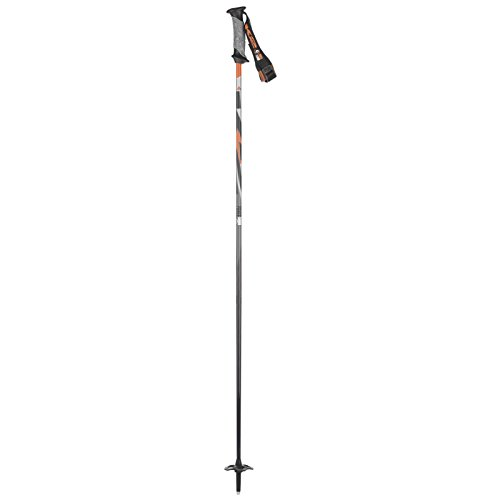 K2 Power 9 Carbon Alpine Ski Poles, Orange, Size 44