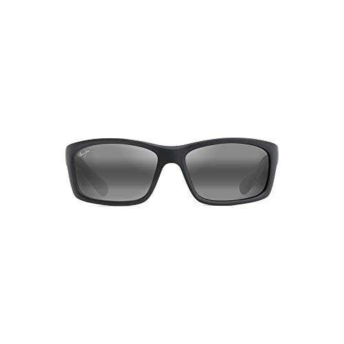 (Maui Jim Unisex Kaupo Gap Gloss Black/Neutral Grey Sunglasses)