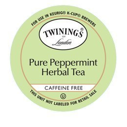 TWININGS PURE PEPPERMINT TEA CAFFEINE FREE K CUPS 96 COUNT by Twinings