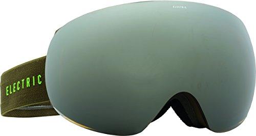 Electric Visual EG3 Olive Slime/Bronze Silver Chrome+Bonus Lens Snow Goggle