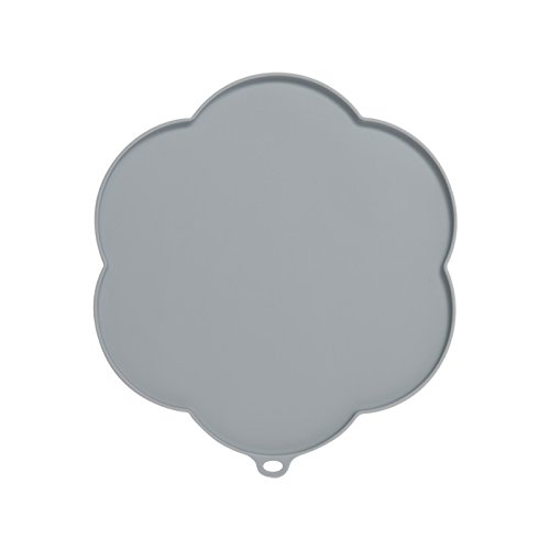 Catit 44011 Flower Shape Silicone Placemat, Gray, Medium by Catit