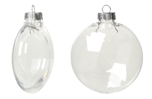 Creative Hobbies Clear Plastic Ornament Discs 80 mm (3.15-Inch) Diameter - Pack of 12