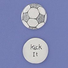 - Basic Spirit Kick It/ Soccer Ball Pocket Token (Coin) * Handcrafted Pewter Home Lead-Free CN-81