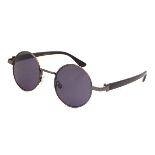 JOHN LENNON 1960 Style Vintage Small Round Metal Frame Sunglasses GUNMETAL