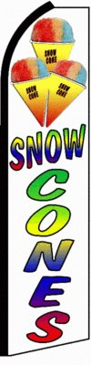 Snow Cones Feather Banner Flag by Accent Printing & Signs