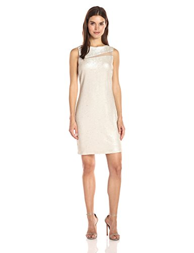Julia Jordan Women's S/l Coming and Going All Over Sequin Sheath Dress, Gold, 12 by Julia Jordan
