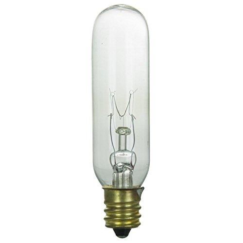 (Sunlite 15T6/CL Incandescent 15-Watt, Candelabra Based, T6 Tublular Bulb, Clear)