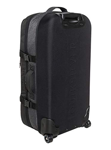 Quiksilver Men's New Reach Luggage, Black Heather/Black, 1SZ