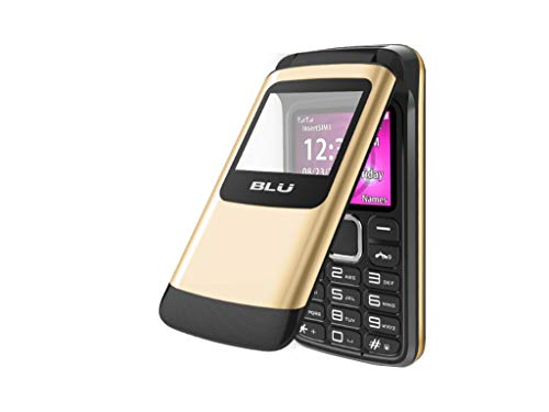 BLU Zoey Flex 3G Z170L 1.8'' Cellphone GSM Unlocked Dual Sim (Gold) by BLU