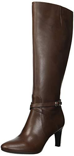 Lauren Ralph Lauren Women's Elberta Fashion Boot, Dark Brown, 5.5 B US