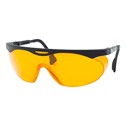 Uvex Skyper Blue Light Blocking Computer Glasses with SCT-Orange Lens (S1933X) (Bright Orange Glass)