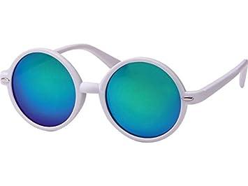 Chic-Net Sonnenbrille Unisex Rund Hippie Brille John Lennon getönt 400UV langer Steg schwarz blau-grün IQ5EfykG