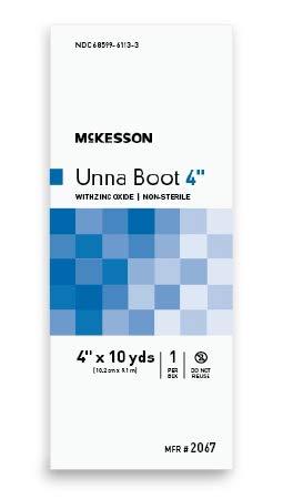 McKesson - Unna Boot McKesson 4 Inch X 10 Yard Cotton Zinc Oxide NonSterile - 12/Case - McK by McKesson