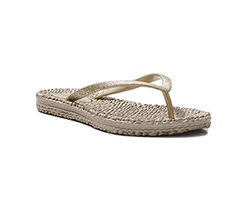 ILSE JACOBSEN Women Flip Flops Cheerful01 (9 M US, Platinum)