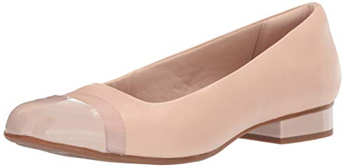 CLARKS Women's Juliet Monte Loafer Blush Leather/Patent 095 M - Dress Shoes Clarks