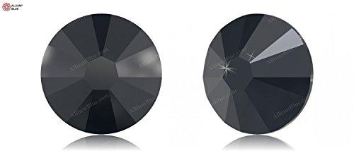 Ss9 Xilion Rose - Swarovski XILION Rose Enhanced Flat Back No-Hotfix (2058) SS9 - JET HEMATITE (280HEM) With Platinum Foiling x 1440 Pieces