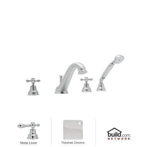 Rohl AC26LM Cisal Roman Tub Faucet with Single Function Hand Shower and Classic, Polished Chrome
