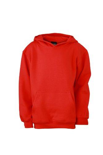 James & Nicholson Sweatshirt Hooded Sweat Junior, Sudadera para Niñas, Rojo (Tomato)