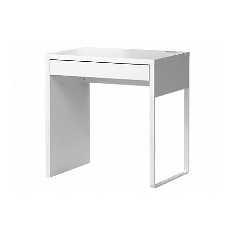 IKEA MICKE - Scrivania, dimensioni: 73 x 50 cm, colore: bianco ...