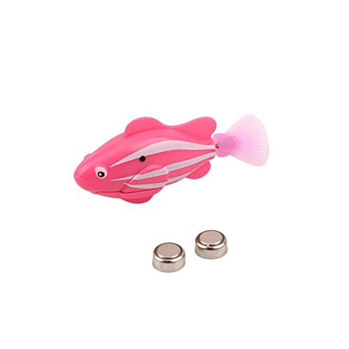 UNKE Swimming Robot Fish Activated in Water Magical Electronic Toy Kids Children Gift(Pink)