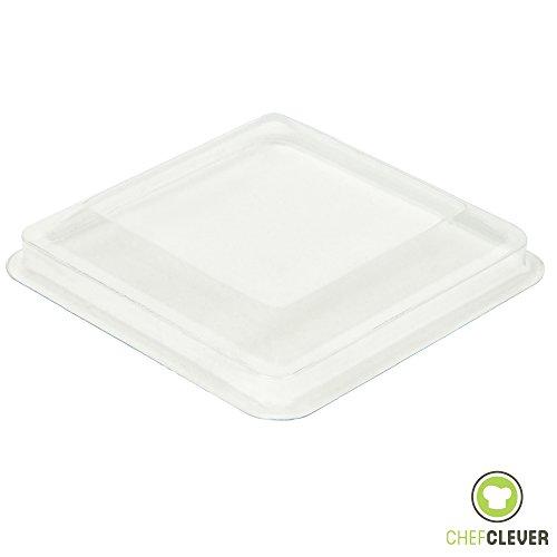 Mini Dessert Cups Lids, Appetizer Bowls [Clear Plastic, 5 oz, Square Large, 24 Count] Small Catering Supplies, Disposable Parfait Tasting Shooters Tumblers Glasses