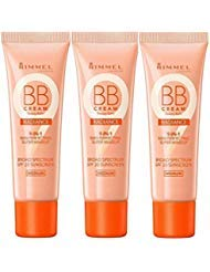 Rimmel Wake Me Up BB Cream Radiance Foundation, Medium, 1 Fluid Ounce (3 Pack)