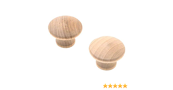 "SOLID RED OAK WOOD KNOB  1 1//2/""  W30386A"