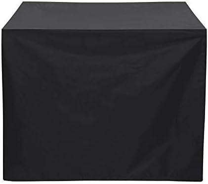家具ダストカバー 防水バーベキューカバー防塵、防雨UV家具カバー屋外防風デザインシルバーメッキ層 幅広い用途 (色 : Black, Size : 80x66x100cm)