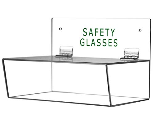 "Cq acrylic Safety Glasses Holder with Lid,3"" Height, 9"" Width, 6"" Depth,Pack of 1"