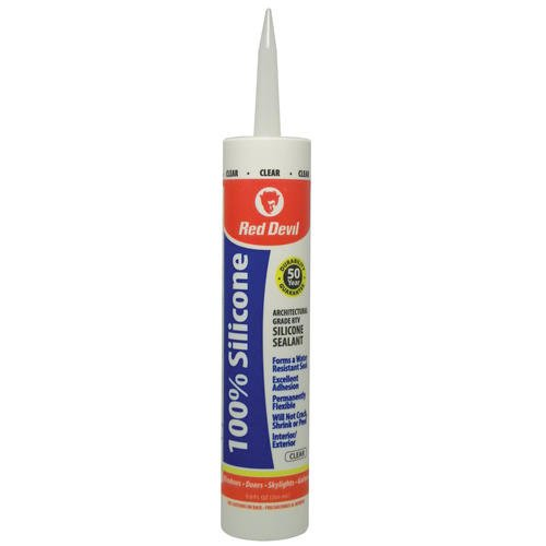 UPC 075339008096, Red Devil RDL0809OI RD PRO Heat Resistant RTV Sealant 10.3 oz. 100% Heat Resistant, Red