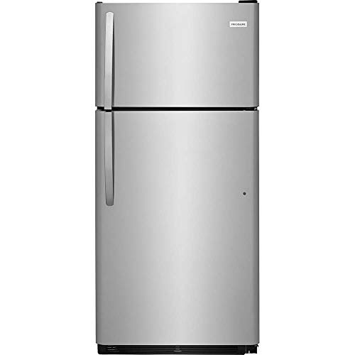 (Frigidaire FFTR1821TS 30 Inch Freestanding Top Freezer Refrigerator with 18 cu. ft. Total Capacity, in Stainless Steel )
