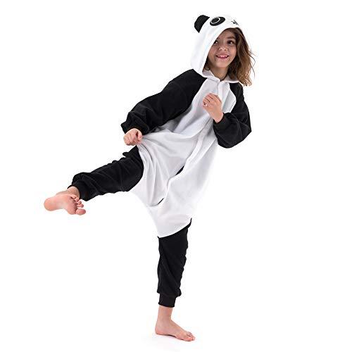 Beauty Shine Unisex Child Animal Costume Halloween Cosplay Pajamas (125, Panda)