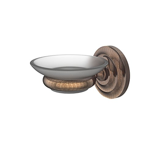 Allied Brass PQN-62-VB Prestige Que New Collection Wall Mounted Soap Dish, Venetian Bronze