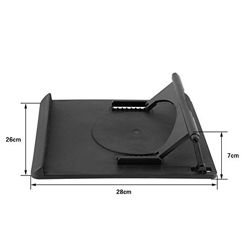 Richer-R Laptop Stand, 360°Adjustable Cooling Cooler Pad Table Fan Stand Holder for Notebook Laptop With Llight Weight Universal Adjustable Ergonomic Portable Adjustable Cooler Stand by Richer-R (Image #4)