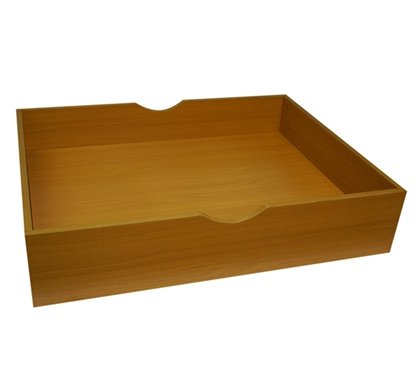 The Storage MAX - Underbed Wooden Organizer with Wheels - Beech by DormCo