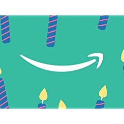Birthday Teal Candles egift card link image