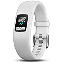 Garmin vívofit 4 activity tracker with 1+ year battery life and color display. Small/Medium, White. 010-01847-01